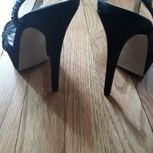 Aldo Shoes - Aldo black rhinestone prom stiletto heels sz 6.5